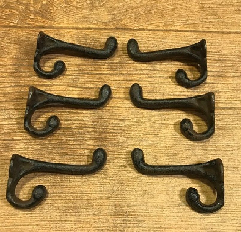 "Primary image for Cast Iron Old Style Double Hook Hanger 2 3/4"" (Case of 6) Home Decor 0170-01202"