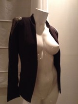 H&M Crystal Beaded Silver Appliqué Structured Open Blazer Top Size 2 - $25.00