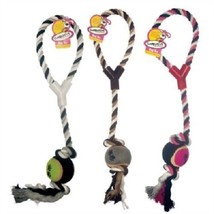 Rope Toy with Tennis Ball Tug Toy Fun for Dog Exercise - $10.11