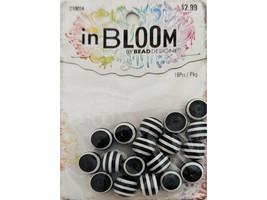 Bead Design In Bloom 10mm Black & White Beads #210054 image 1