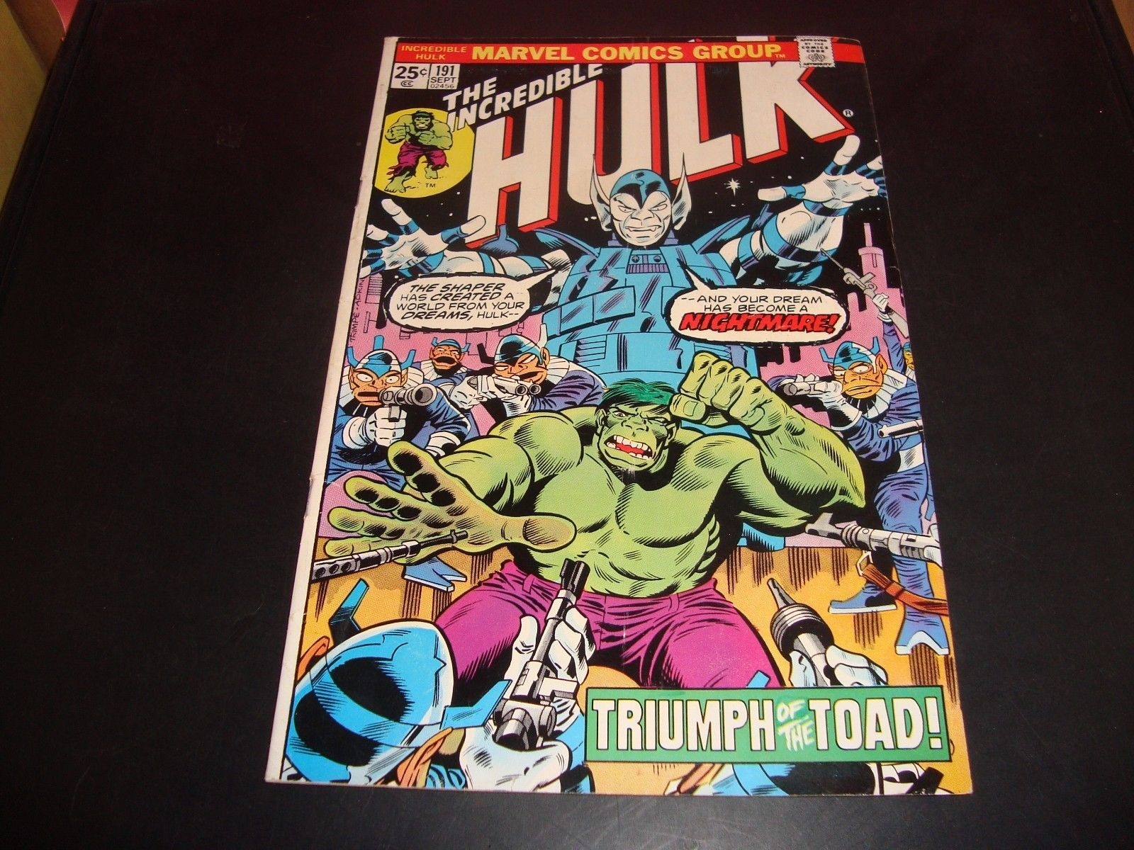 The Incredible Hulk #191 Marvel Comic Book VG 6.0 1975 The Toad