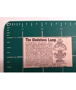 1889 Gladstone Lamp Co. Advertisement New York - $22.00