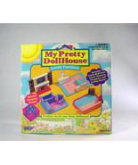 Galoob My Pretty Dollhouse bedroom nursery Furniture fireplace living ro... - $24.78