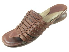 SH29 Dansko EUR 36 US 5.5-6 Brown Leather Thong Sandals Slides - $24.74