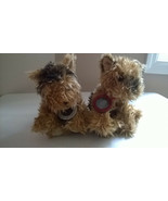2003 LIMITED EDITION VICTORIA'S SECRET MAX & LUCY TWIN YORKIE TERRIER PU... - $24.99