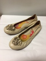 Born Womens Shoes Size 8 Off White Solid Leather Ballet Flats - $18.80