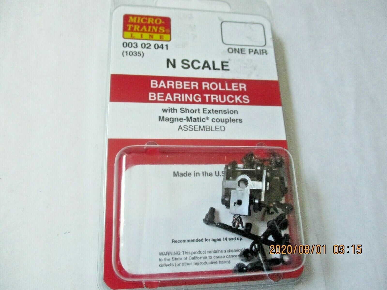 Micro-Trains Stock # 00302041 (1035) Barber Roller Bearing Truck Short Extension