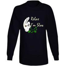 Relax I'm  Slow 420 Canna Long Sleeve T Shirt image 4