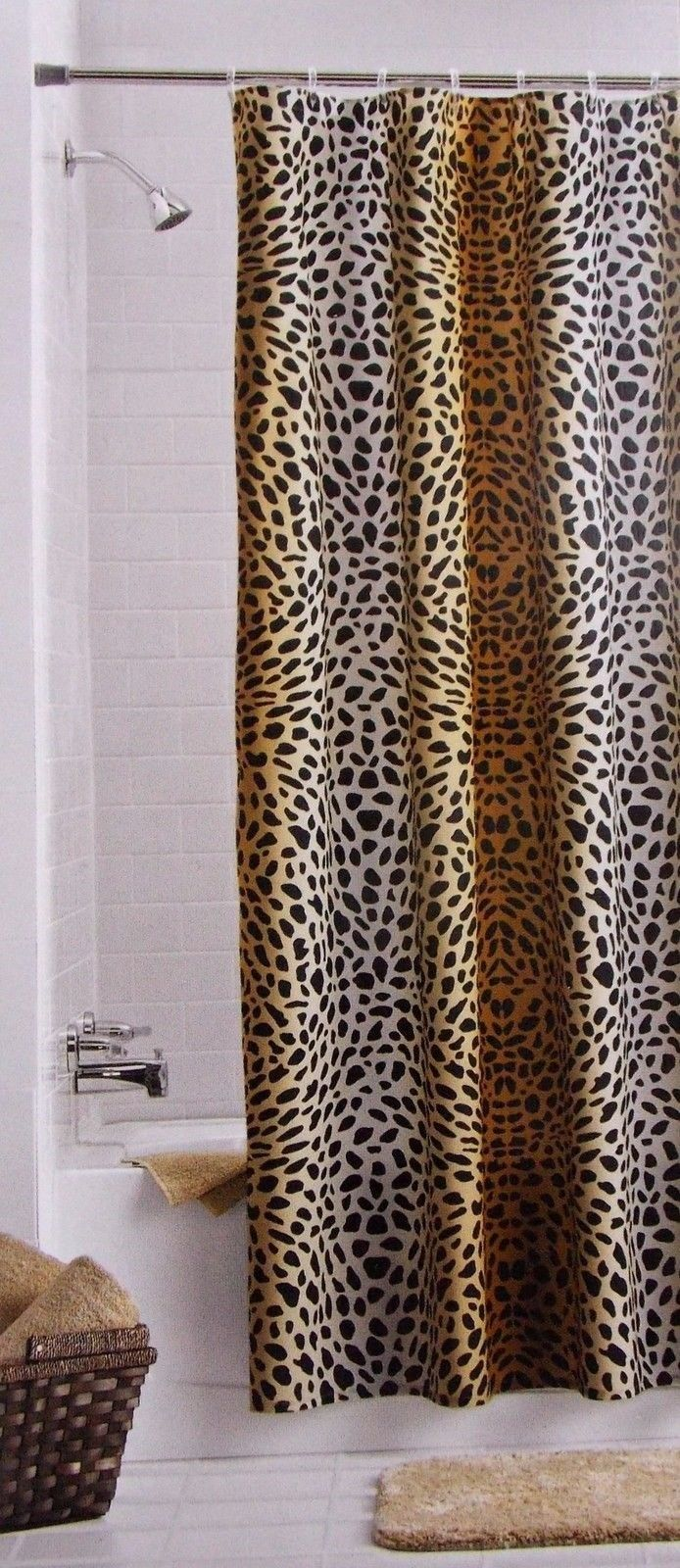 Cheetah Fabric Shower Curtain 70 X72 Ombre And 50 Similar Items