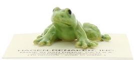 Hagen-Renaker Miniature Ceramic Frog Figurine Tiny Papa Frog, Baby and Tadpole image 13