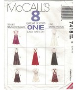McCall's 7418 Sundress Pattern 8 in 1 Back and Length Variations Size 8 ... - $8.99