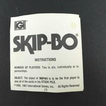 Vintage 1980 /1981 iGi Games Skip-Bo Instructions/ Rules Booklet Only - $8.49