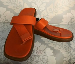 LOUIS VUITTON Orange Leather w/ Rubber Soles Slides/Sandals Sz 36/US 6 $700 - $313.73