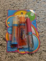Lip Smacker Skittles Tropical Flavor Collection 3 Assorted Lip Gloss/Balm (462) - $9.90