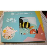 New Manhattan Toy Garden Activity Play Mat Bee Ladybug Bunny Watering Can - $19.79