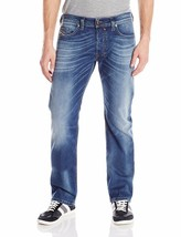 New Diesel Men's Regular Slim Straight-Leg Jeans Safado 0840F STRETCH 32x32