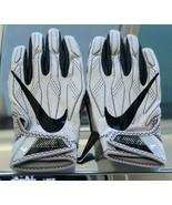 NIKE SUPERBAD 4 FOOTBALL GLOVES GREY/BLACK BRAND NEW SIZE LARGE (PGF419-... - $37.55