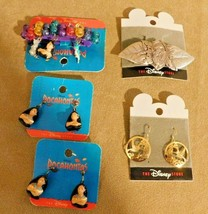 Lot of 5 Disney Store Pocahontas Pieces 3 Earrings and 2 Hair Barrettes - $14.80