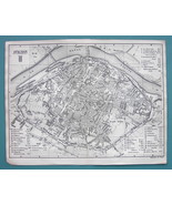 1874 MAP BAEDEKER - FRANCE Avignon City Plan - $12.15