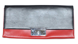 Ralph Lauren Women's Italian Leather Clutch Bag - One size - Black/Red - $346.45