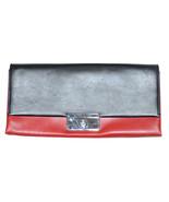 Ralph Lauren Women's Italian Leather Clutch Bag - One size - Black/Red - $346.45