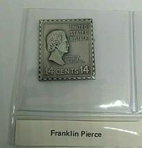 sterling silver Franklin Pierce presidential stamp ingot  - $23.20