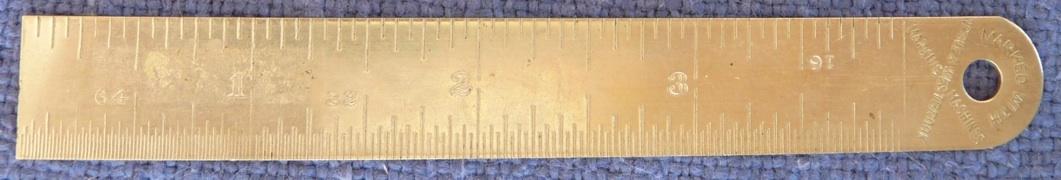 Noble & Westbrook vintage advertising ruler Hartford CT engravers