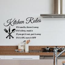 DIY Kitchen Wall Decal - Kitchen Rules - $12.97