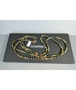 """Chanel Double Strand Green Pearl Opera Long Necklace Habana Star Gold """"C... - $1,657.00"""