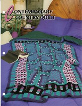 Contemporary Country Quilt crochet afghan pattern Annies cro - $9.95