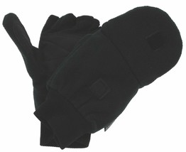 Black Athletech Convertible Gloves Mittens Work 3M Thinsulate Mens Soft ... - $15.99