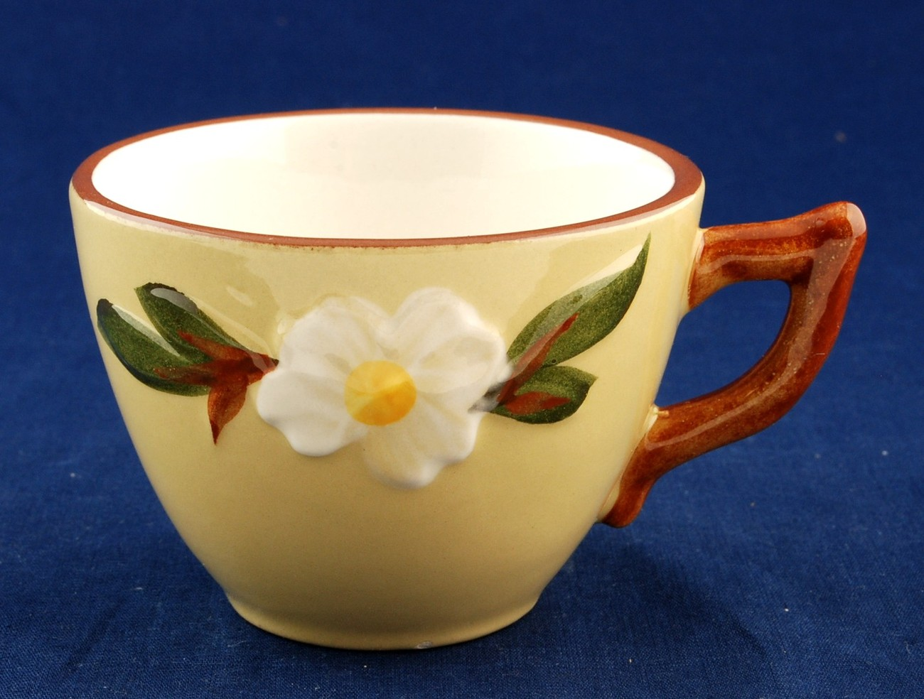 Stangl white dogwood cup 2
