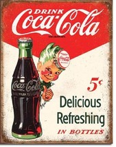 Coca Cola Coke Sprite Boy 5 Cent Advertising Vintage Retro Style Metal T... - $15.99