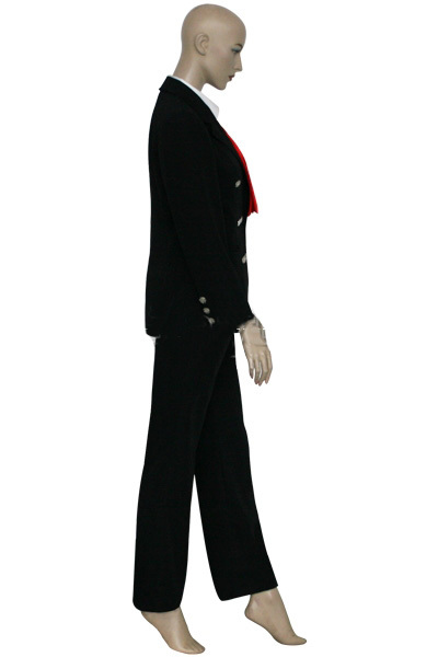 Hellsing OVA Sir Integra Cosplay Costume Black Uniform