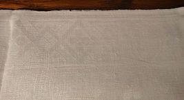 Large vintage antique Irish linen damask hand towel Celtic clover tea dish 40X17 image 7