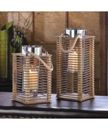 2 Wood And Wire Hudson Candle Lanterns - $49.00