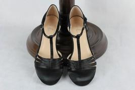 Ellie Womens Shoes Black Satin Mary Jane Heels Size 7 T-strap Spool Heel... - $283,03 MXN