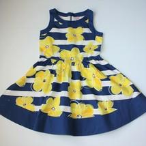 Gymboree Pocket Full of Sunshine Flower Stripe Dress size 7 - $18.99