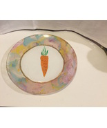 """Carrot For The Easter Bunny Hand Painted Marble Swirl Painted 7"""" Glass P... - $9.99"""