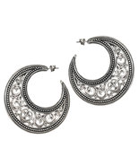 Gerochristo 1164 - Sterling Silver Medieval Byzantine Crescent Earrings ... - $385.00