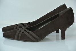 Stuart Weitzman Womens Sz 7 M Brown Suede Heels Pumps NICE! - $29.69