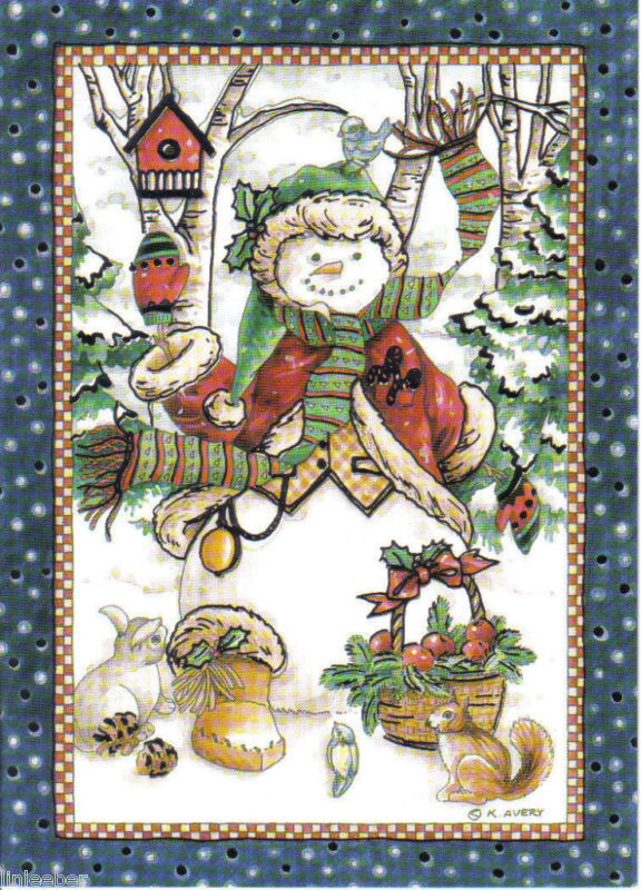 9 HOLIDAY CARDS-envelopes;SNOWMAN;DECORATED TREE;FOIL