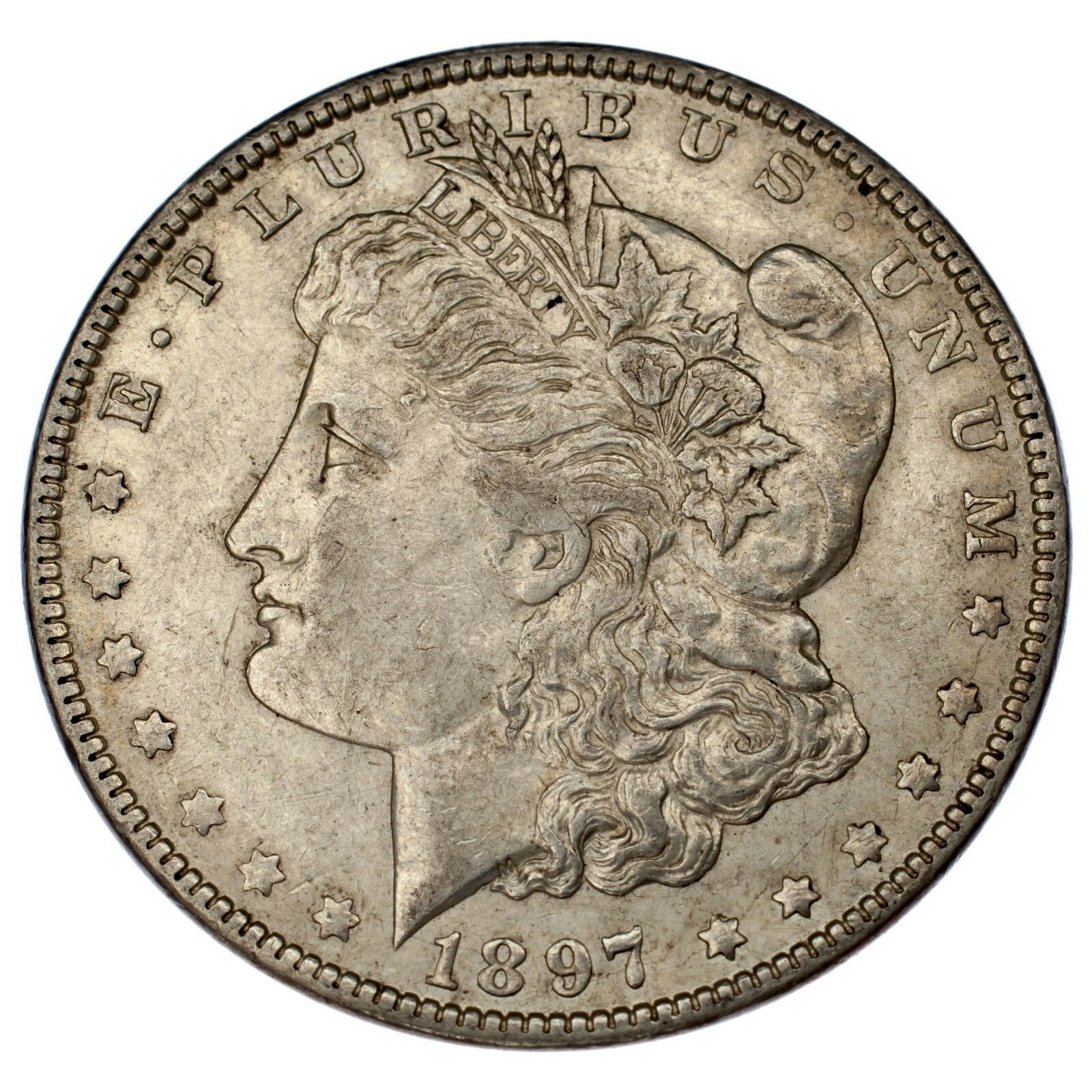 1897-O $1 Dollar Morgan en au État , Nice Oeil Appeal, Fort Luster !