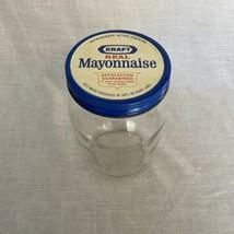 Vintage 70s Kraft Real Mayonnaise Glass Ball 16 Jar No Label - $11.68