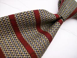 XMI PLATINUM Multi Horz. Stripe/Burgundy  Mens 100 SILK Necktie  11-15* - $15.99