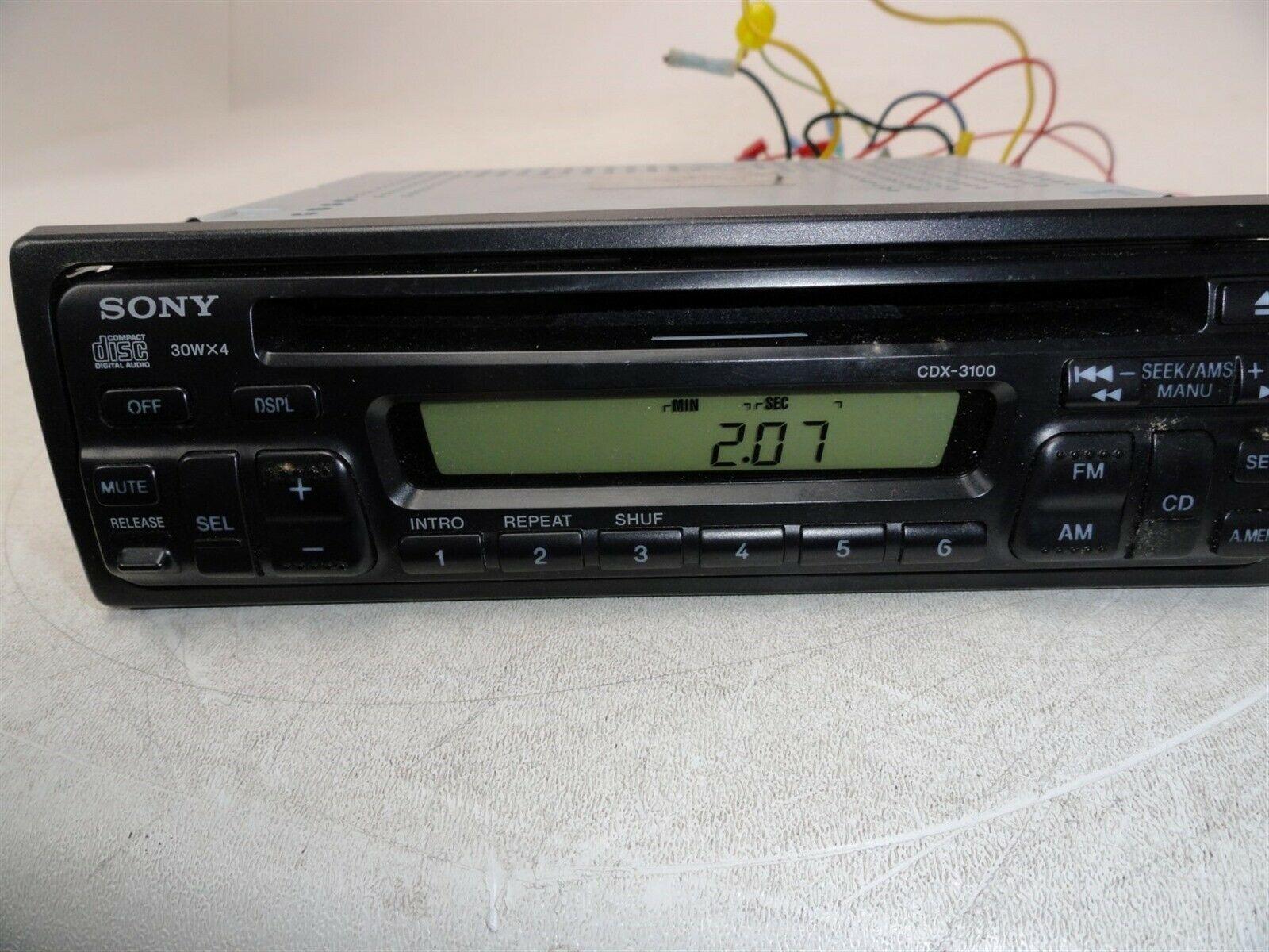 sony car stereo wiring harness cdx gt620    sony       cdx    3100 fm am cd player 30wx4    car       stereo    w    wiring        sony       cdx    3100 fm am cd player 30wx4    car       stereo    w    wiring