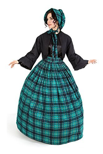 Reminisce Scottish Tartan Skirt and Jacket Set (S/M, Green)