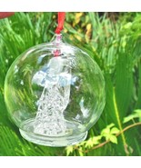 "Spun Glass Angel Ornament in Glass Dome 2.5"" - $13.00"