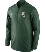 NWT New Baylor Bears Nike Quarter Zip Lockdown Green Jacket Size Small - $34.92