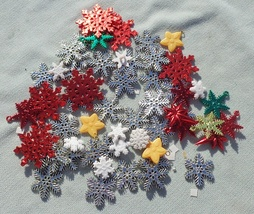 Christmas Plastic Snowflakes for DIY Crafts  - $4.25